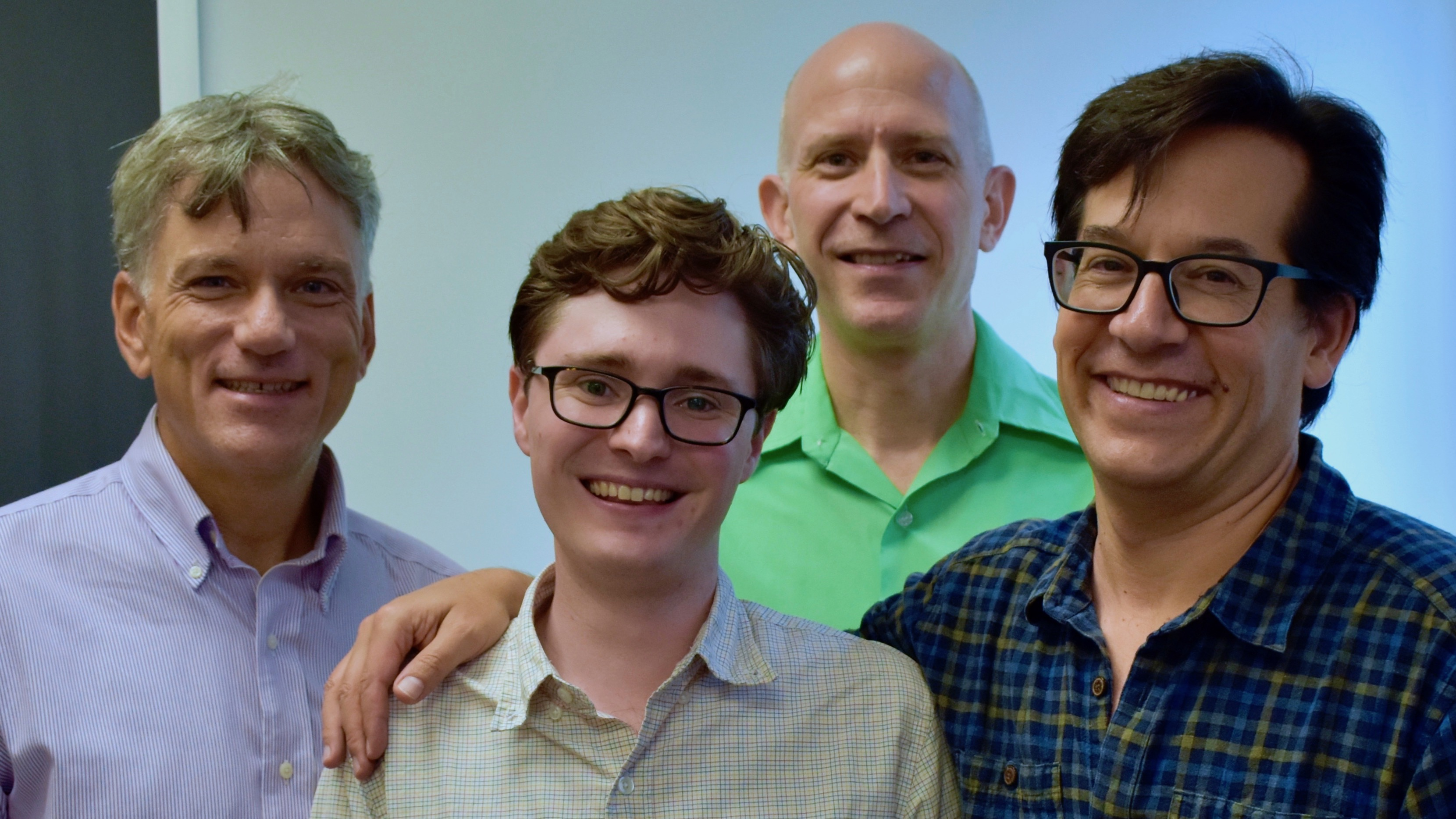 Tyler Knowlton with his faculty collaborators